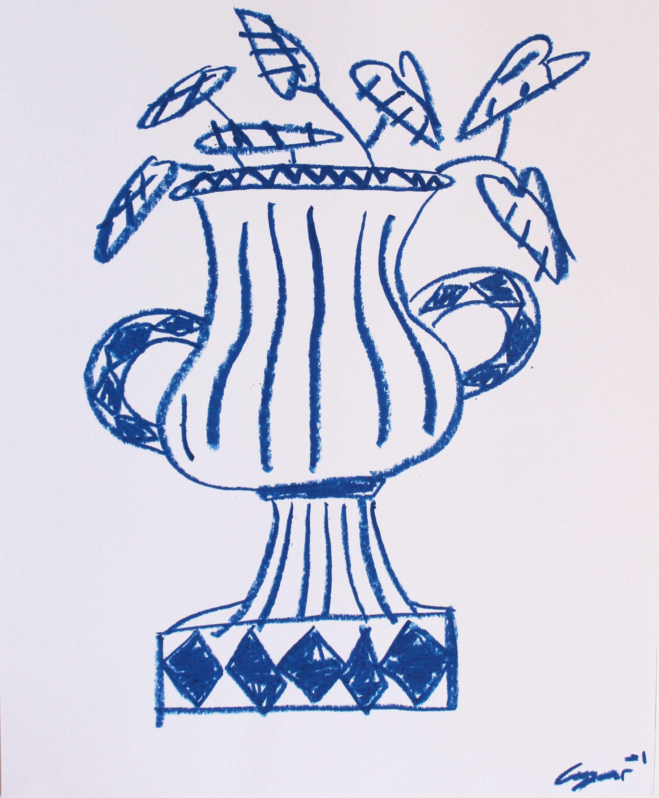 Vase In Blue by Cooper