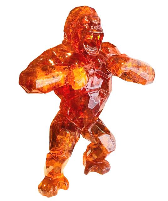 Wild Kong Crackled (Orange) by Richard Orlinski