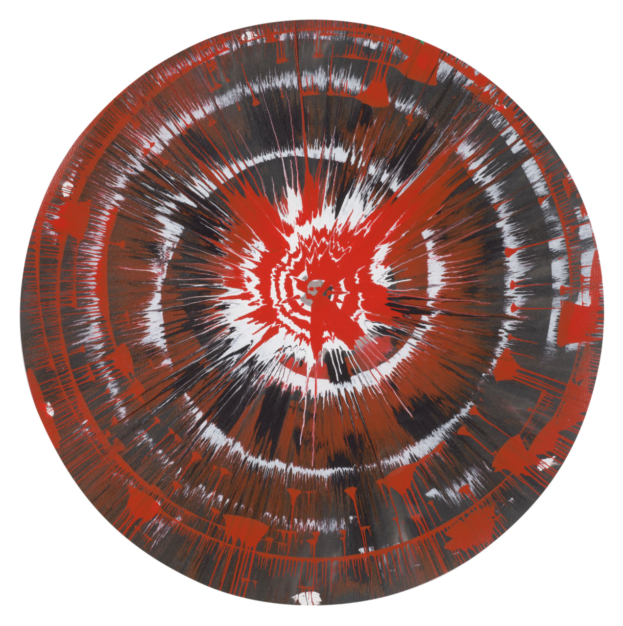 Untitled Spin Painting by Damien Hirst