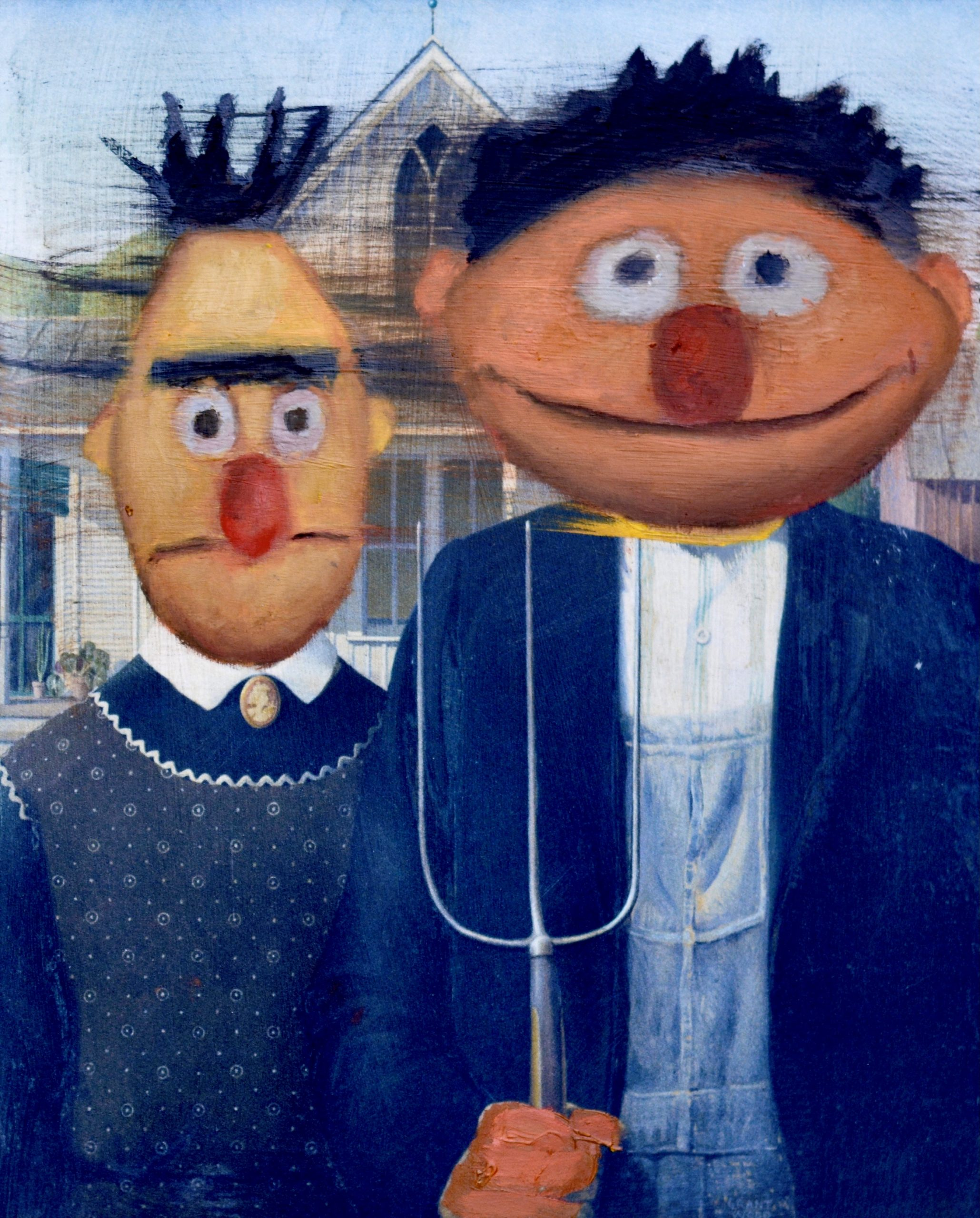 Bert and Ernie Gothic by Tim Gatenby