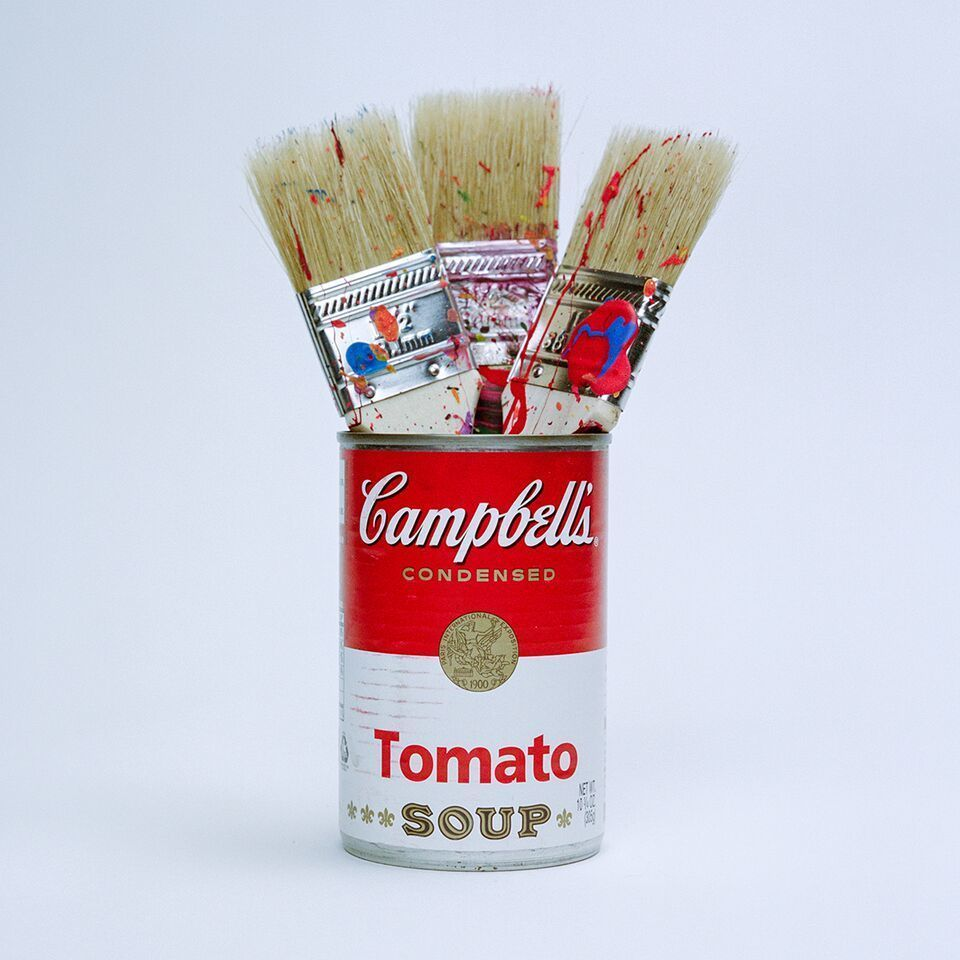 Andy Warhol's Paint Brushes by Tyler Shields