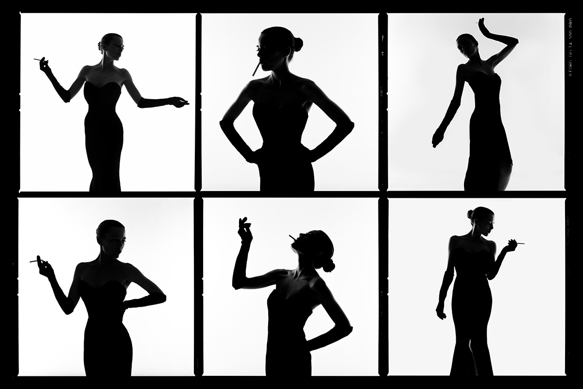 Silhouettes Contact Sheet by Tyler Shields