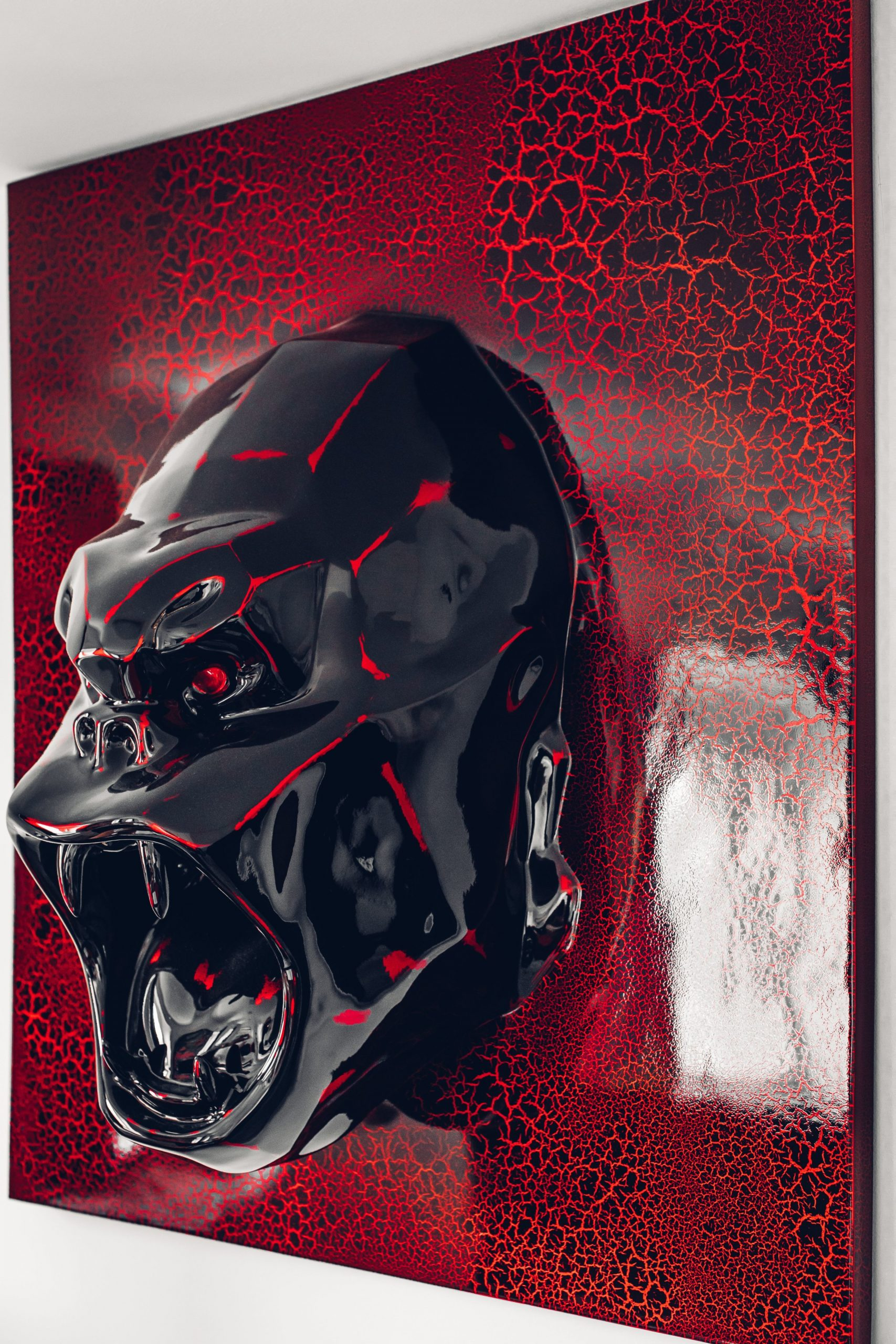 Wild Kong (Wall Mount, Red) by Richard Orlinski
