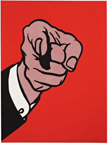 Finger Pointing by Roy Lichtenstein