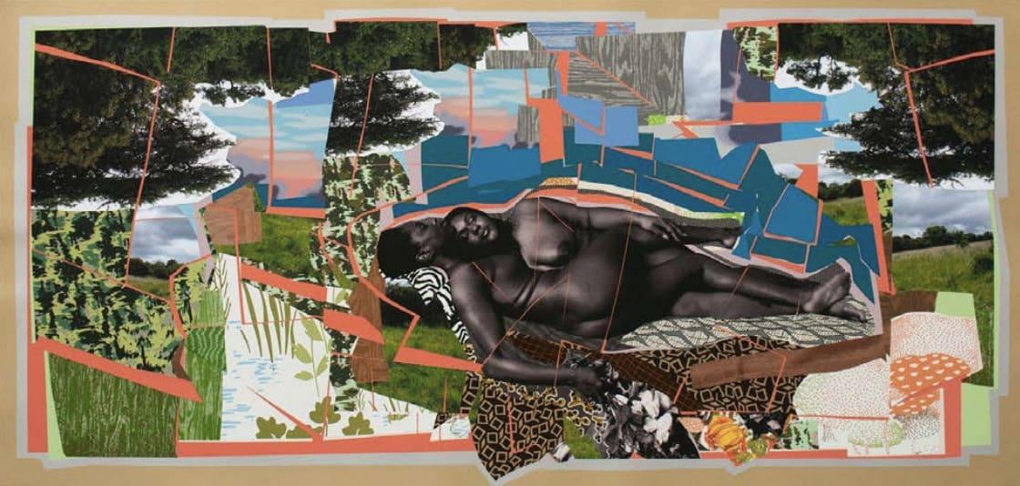 Sleep: Deux Femmes Noires by Mickalene Thomas