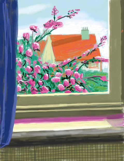 iPad Drawing No. 778, 17th April 2011 by David Hockney