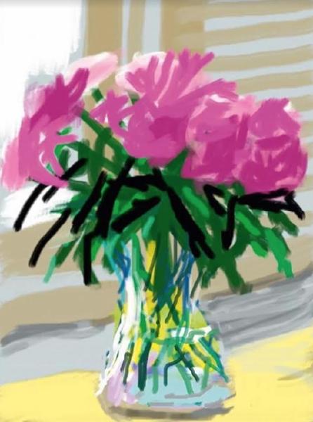 iPad Drawing No. 535, 28th June 2009 by David Hockney