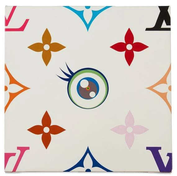 I Love White Monogramme by Takashi Murakami
