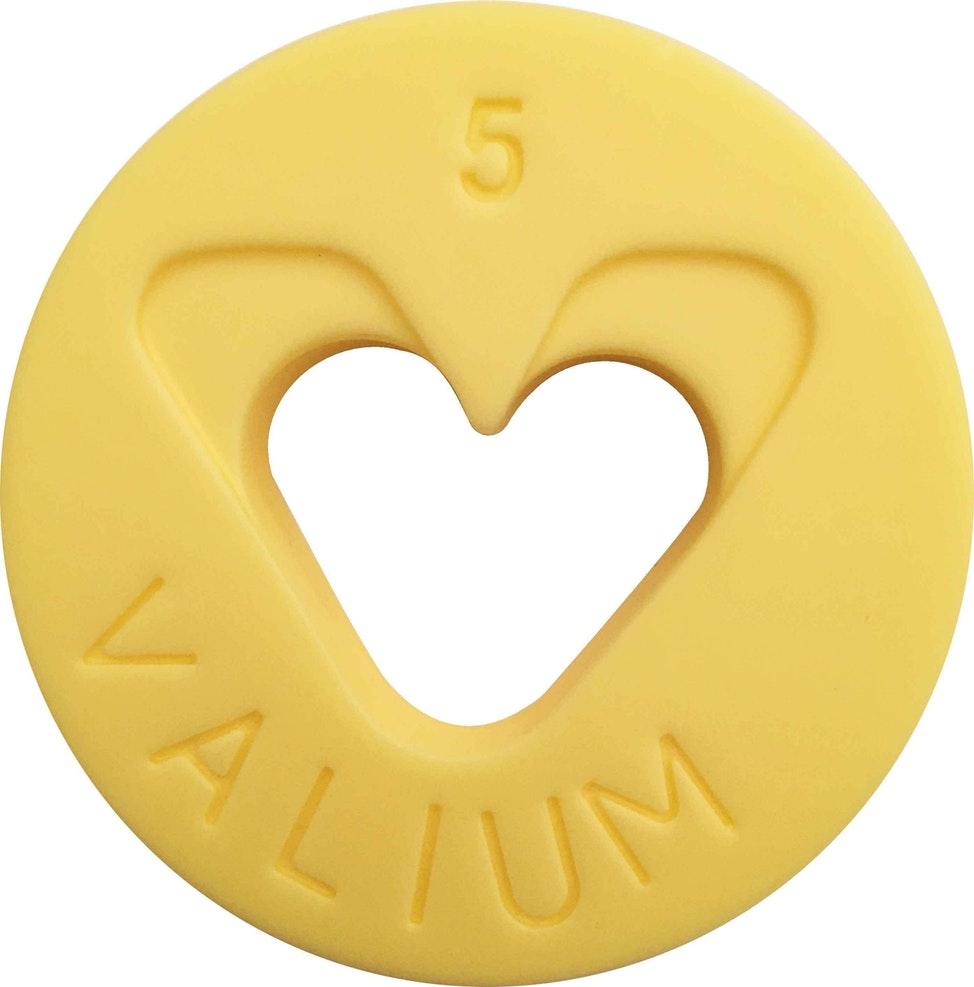 Valium 10MG Roche (Yellow) by Damien Hirst