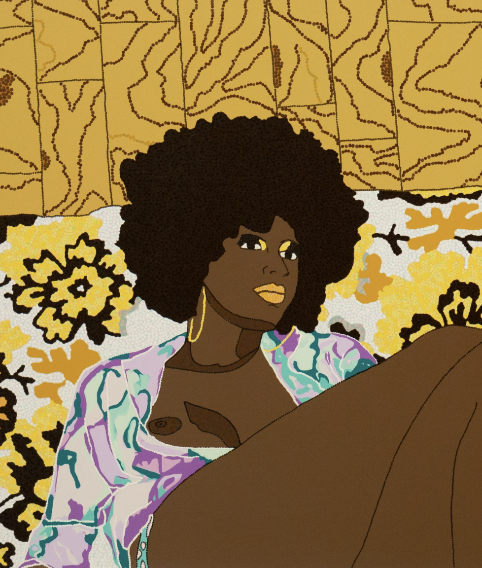 Why Can't We Sit Down by Mickalene Thomas
