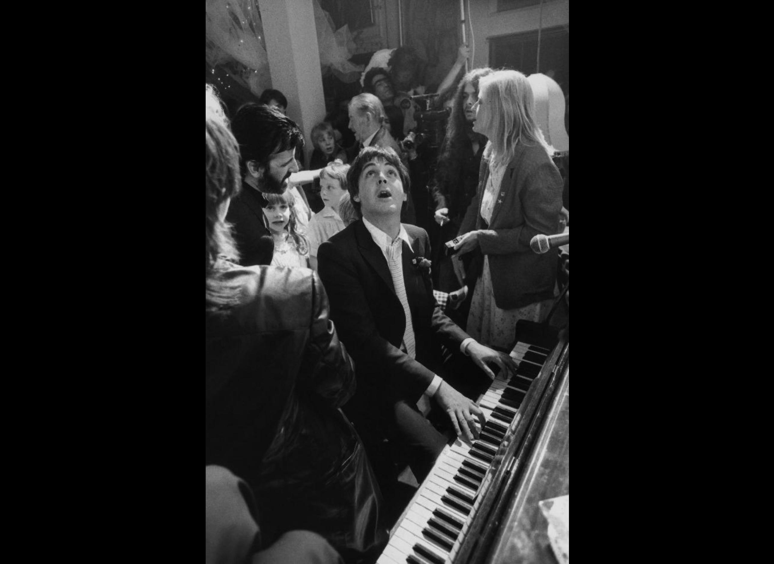 Paul McCartney at Ringo Starr's Wedding by Terry O'Neill