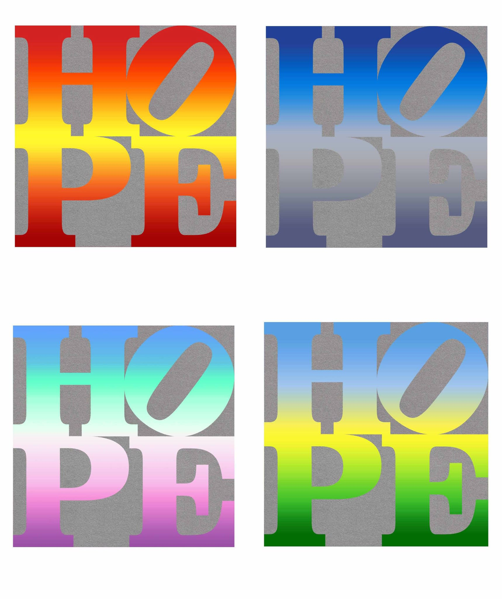 Four Seasons of Hope by Robert Indiana