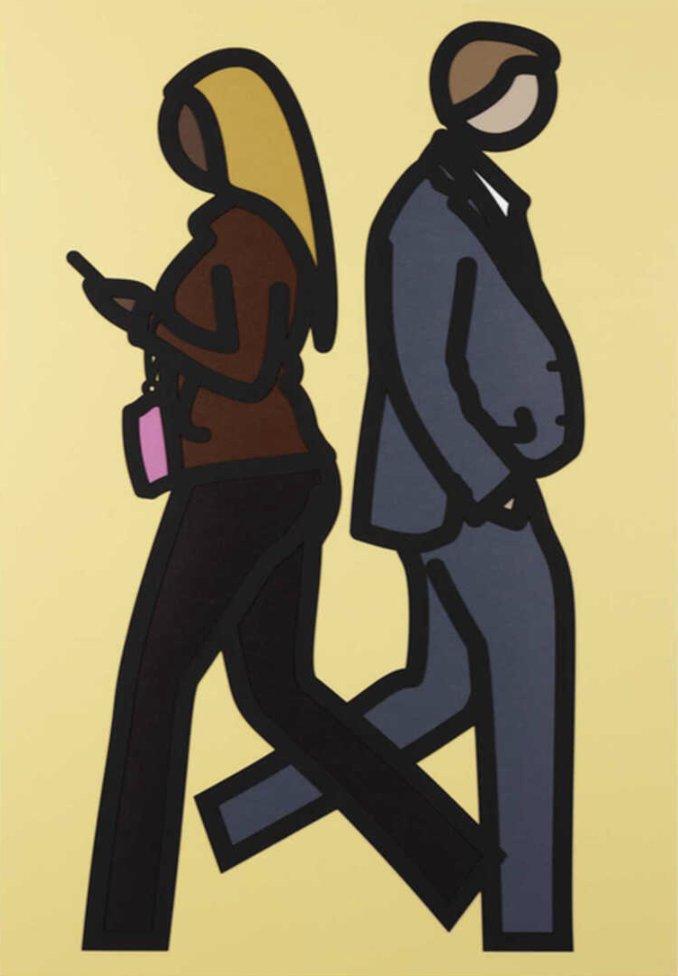 New York Couple 5 by Julian Opie