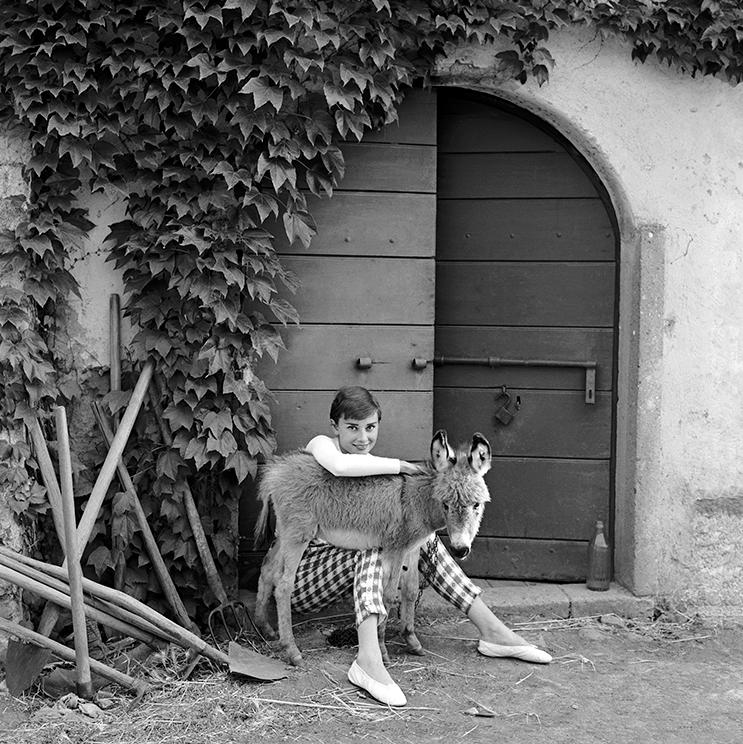 Audrey Hepburn, at Villa Rolli by Norman Parkinson